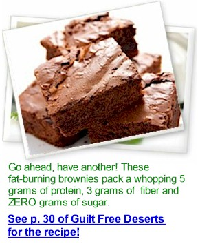 fat-burning brownies, gluten free
